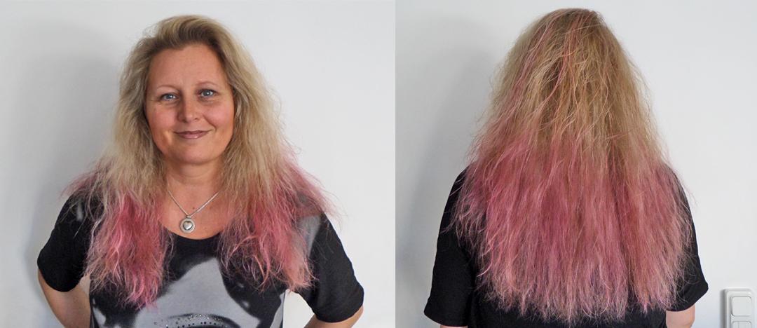 färga håret rosa