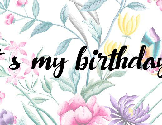 It´s my birthday!