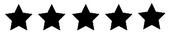 fem stjärnor