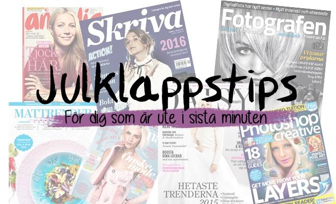 Tidningar - Julklappstips