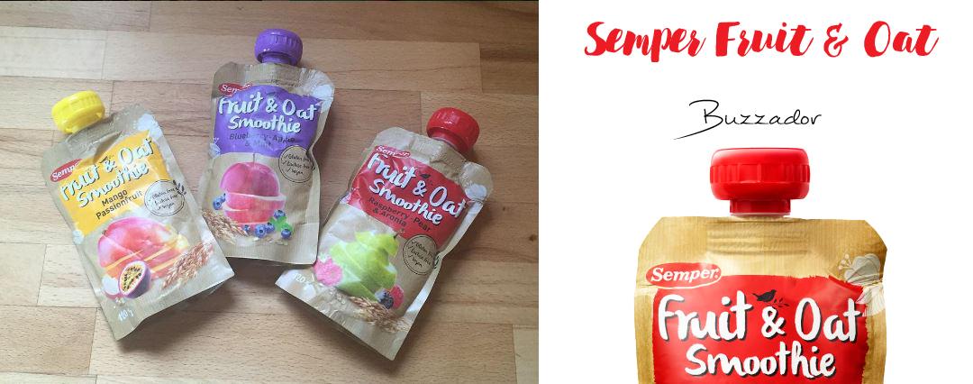 Semper Fruit & Oat Smoothies med Buzzador