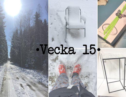Recap of week 15 - Påskveckan