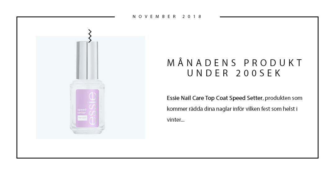 Månadens produkt under 200SEK Essie Nail Care Top Coat Speed Setter